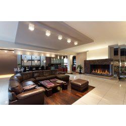 KFD CC Line 150x60, zárt égésterű, gázüzemű, kéményes sarok kandallóbetét jobb