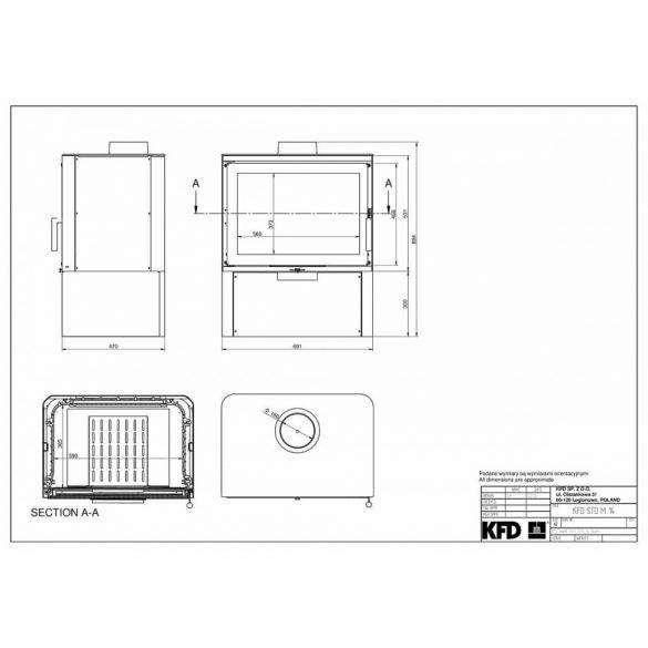 KFD STO iM 14 kW modern öntöttvas kandallókályha