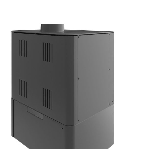 KFD STO MAX 14 3F 14 kW modern öntöttvas panoráma kandallókályha paddal