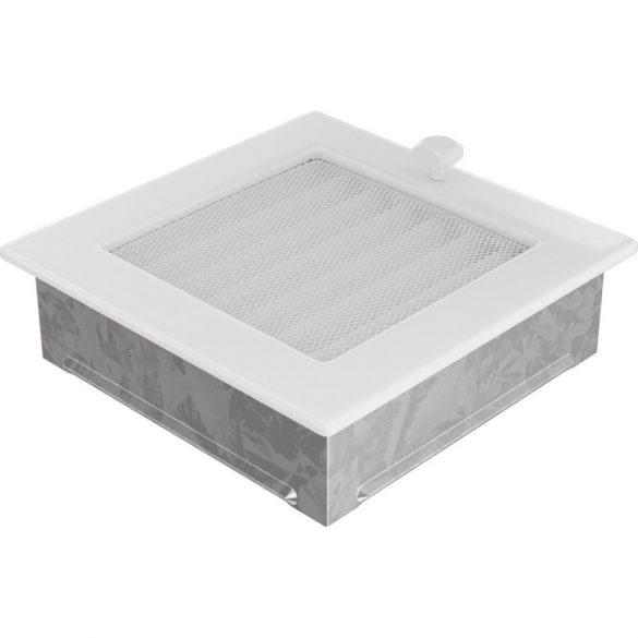 Fehér 17x17 cm-es, zsalus szellőzőrács