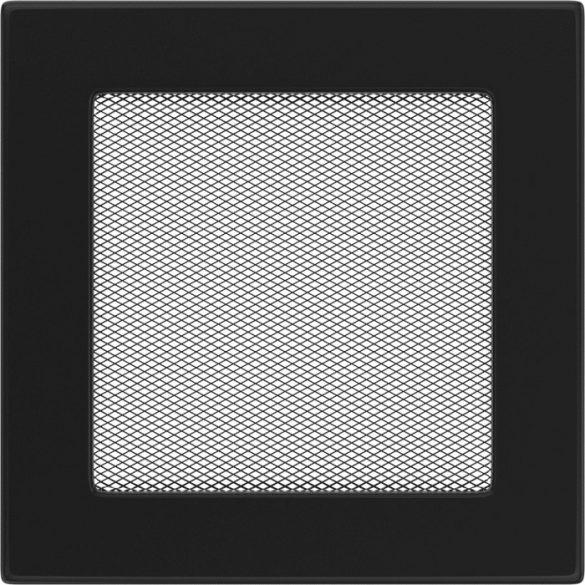 színes, 17x17 cm-es, egyszerű szellőzőrács fekete