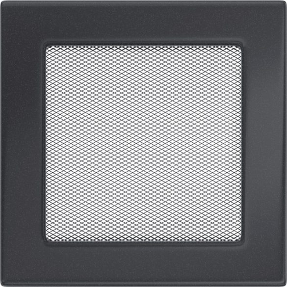 színes, 17x17 cm-es, egyszerű szellőzőrács grafit