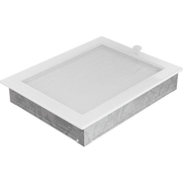 Fehér 22x30 cm-es, zsalus szellőzőrács