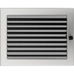 Inox, 22x30 cm-es, zsalus szellőzőrács