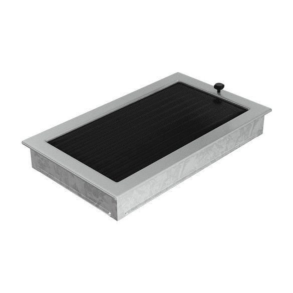 Inox, 22x37 cm-es, zsalus szellőzőrács