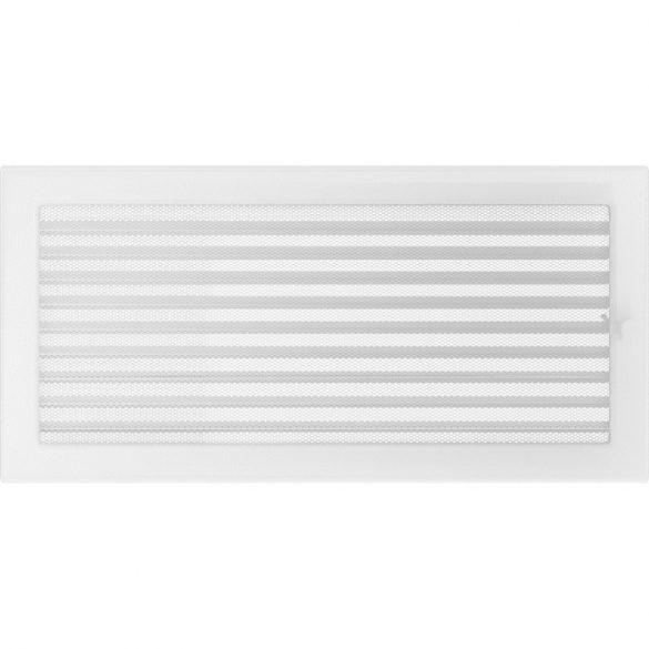 Fehér 22x45 cm-es, zsalus, egyszerű szellőzőrács