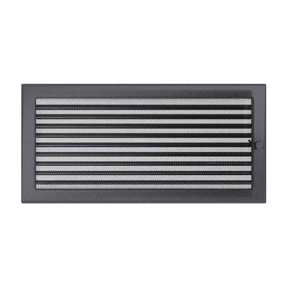 Színes 22x45 cm-es, zsalus szellőzőrács grafit