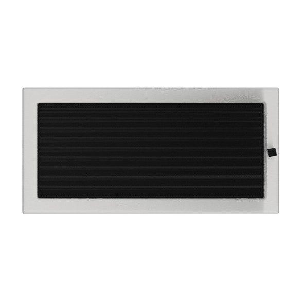 Inox, 22x45 cm-es, zsalus szellőzőrács