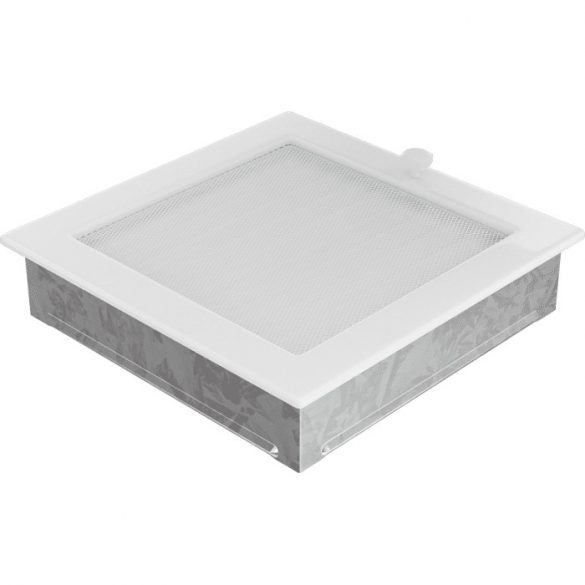 Fehér 22x22 cm-es, zsalus szellőzőrács