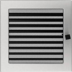 Inox, 22x22 cm-es, zsalus szellőzőrács