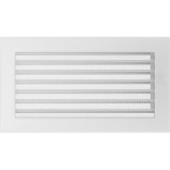 Fehér 17x30 cm-es, zsalus szellőzőrács