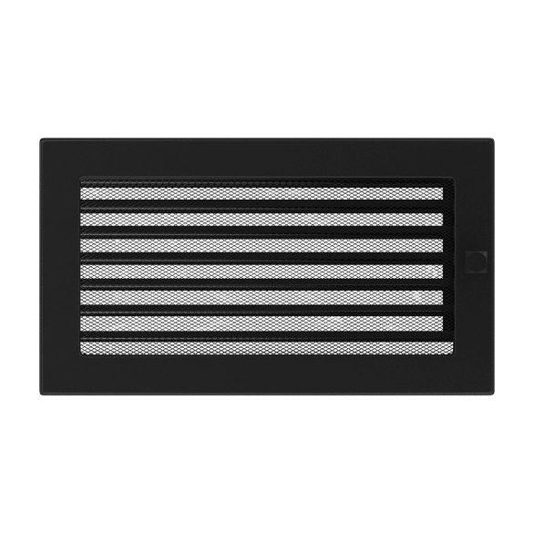 Színes 17x30 cm-es, fekete zsalus szellőzőrács