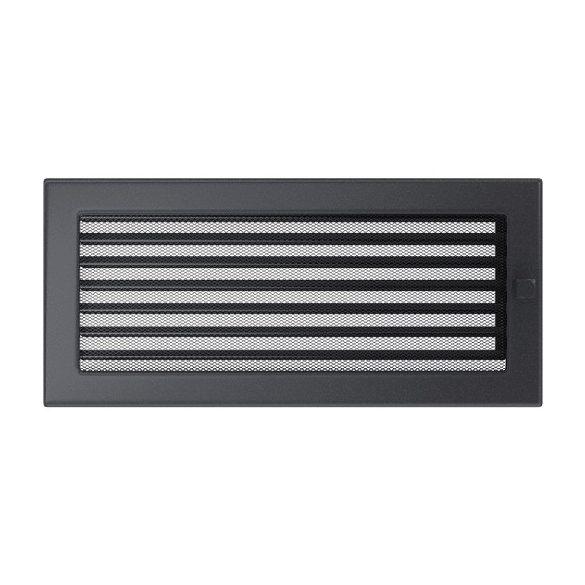 Színes 17x37 cm-es, zsalus szellőzőrács grafit