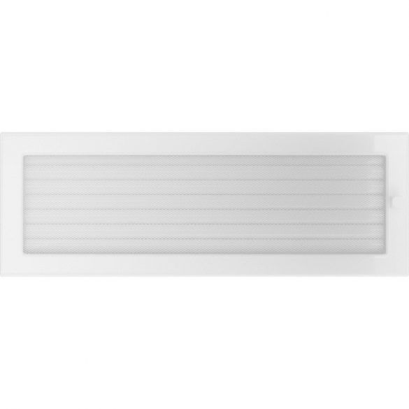 Fehér 17x49 cm-es, zsalus szellőzőrács