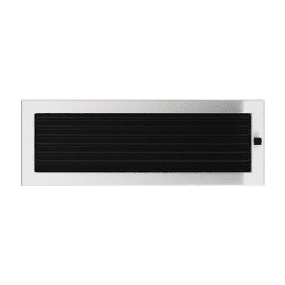 Inox, 17x49 cm-es, zsalus szellőzőrács
