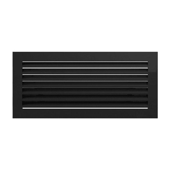 Fresh, modern 17x49 cm-es, szellőzőrács Fekete