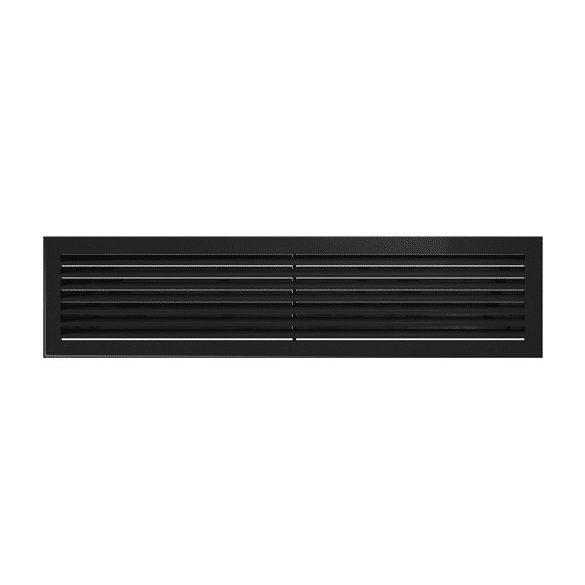 Fresh, modern 17x70 cm-es, szellőzőrács Fekete