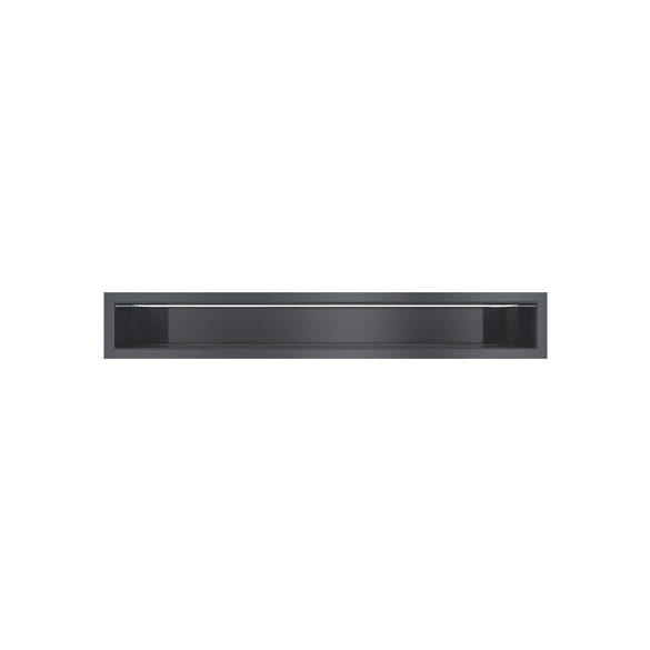 Minimal,fekete hátfalas 9x100 cm-es, résszellőző