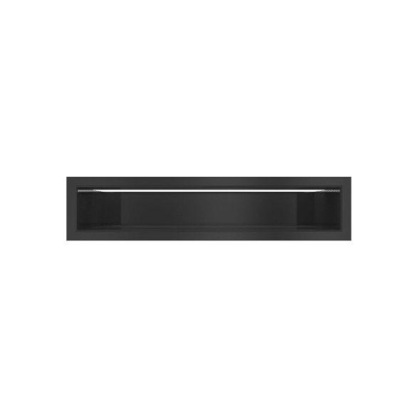 Minimal, hátfalas 9x40 cm-es, résszellőző fekete