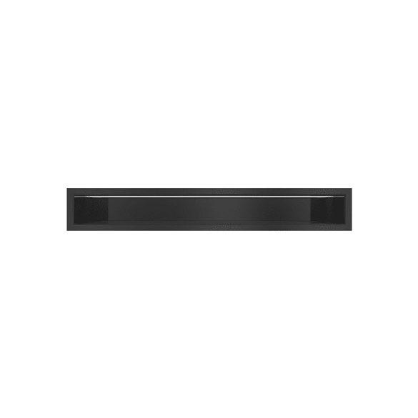 Minimal, hátfalas 9x80 cm-es, résszellőző fekete