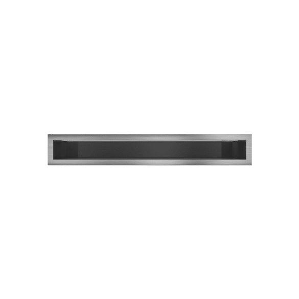 Minimal, Hátfalas, inox, 9x80 cm-es, résszellőző