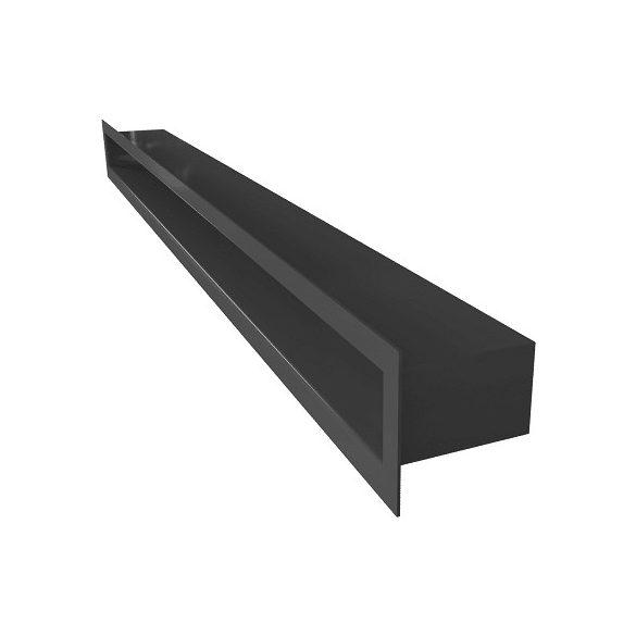 Tunel, fekete minimal 6x60 cm-es, résszellőző